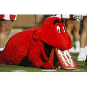 Rotes Maskottchen kleines rotes Monster - Redbrokoly.com