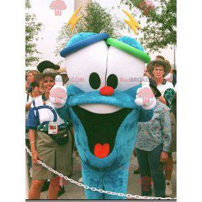 Maskotka niebieski bałwan z dużymi oczami - Redbrokoly.com