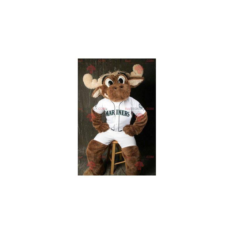 Brun elg caribou maskot - Redbrokoly.com