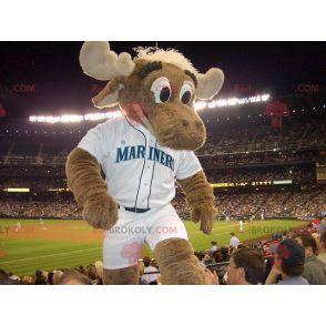 Brown elk caribou mascot - Redbrokoly.com