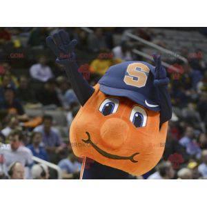 Orange Basketball Maskottchen mit einer Kappe - Redbrokoly.com