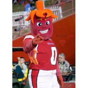 Purple and orange sportsman mascot - Redbrokoly.com