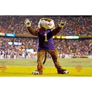 Maskot kočičí tygr v sportovní oblečení - Redbrokoly.com