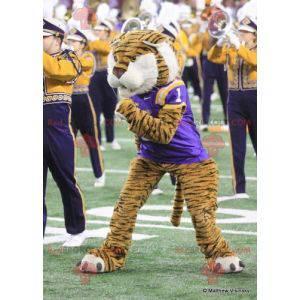 Mascot feline tiger i sportsklær - Redbrokoly.com