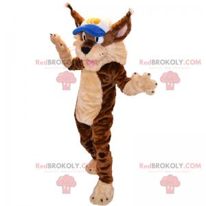 Animal mascot - Lynx with cap - Redbrokoly.com