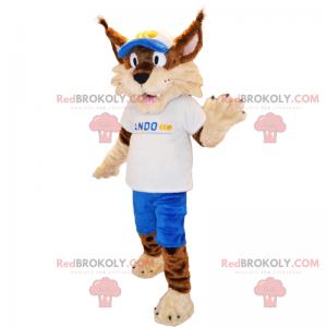 Dyremaskot - Lynx i sportstøj - Redbrokoly.com