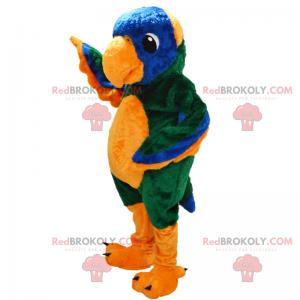 Mascote animal - papagaio - Redbrokoly.com