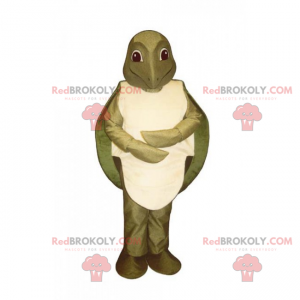 Mascote animal aquático - tartaruga - Redbrokoly.com
