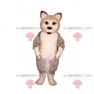 Eisscholle Tier Maskottchen - Husky Welpe - Redbrokoly.com
