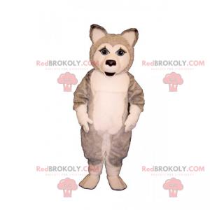 Zvířecí maskot ledová kra - štěně husky - Redbrokoly.com