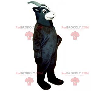 Mascote animal de fazenda - cabra preta - Redbrokoly.com