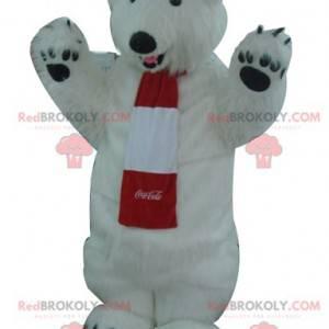 Alle haarigen weißen Eisbären Maskottchen - Coca-Cola