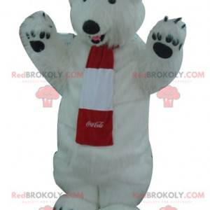Celý maskot bílého ledního medvěda - maskot Coca-Cola -