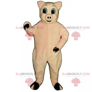 Maskot hospodářských zvířat - růžové prase - Redbrokoly.com