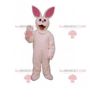 Maskot hospodářských zvířat - bílý králík - Redbrokoly.com