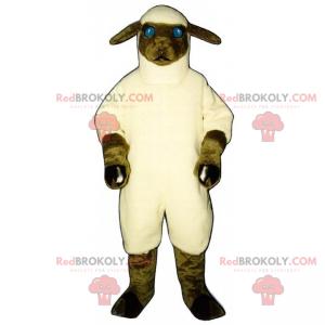 Mascote de animal de fazenda - Ovelha - Redbrokoly.com