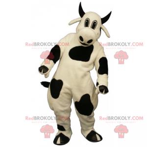 Maskot hospodářských zvířat - černá rohatá kráva -