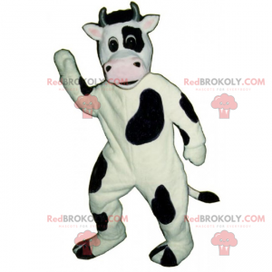 Maskot hospodářských zvířat - kráva s pěkně růžovým čenichem -