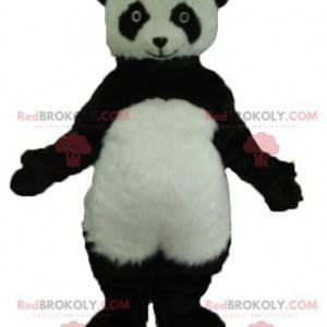 Mascotte del panda in bianco e nero molto realistico -