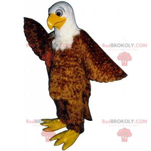 Maskotka leśne zwierzę - brązowy orzeł o miękkim wyglądzie -