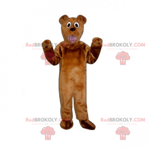 Braunbärenmaskottchen mit einem lustigen Blick - Redbrokoly.com