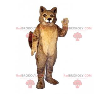Mascota animal del bosque - Zorro con pelo plateado -