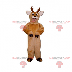 Forest animal mascot - Reindeer with small antlers -