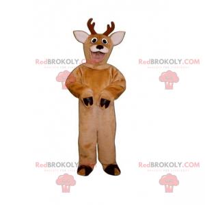 Maskot lesních zvířat - Sob s malými parohy - Redbrokoly.com