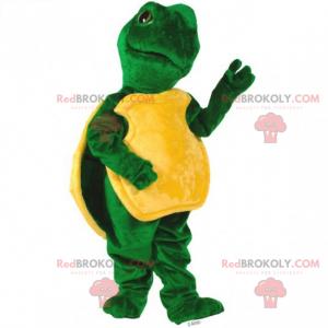 Mascotte bosdier - schildpad met een gele schelp -