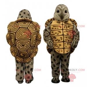 Mascote animal da floresta - tartaruga verde e marrom -