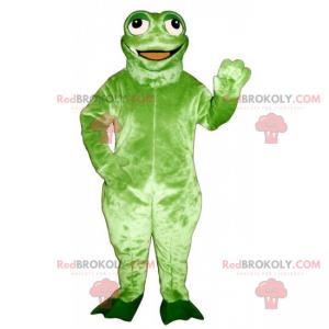 Maskot zvířecí džungle - šílená zelená žába - Redbrokoly.com