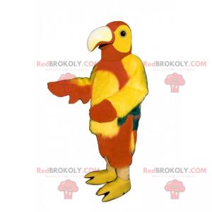 Mascotte animale della giungla - pappagallo multicolore -