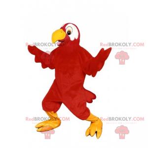Mascote animal da selva - papagaio vermelho - Redbrokoly.com