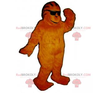 Jungle animal mascot - Monkey with glasses - Redbrokoly.com