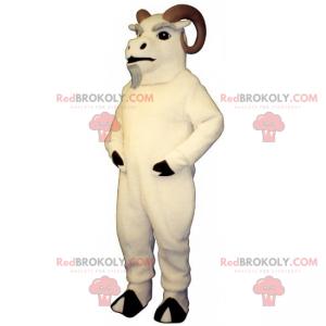 Mascote do animal da montanha - Áries com belos chifres -