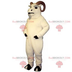 Mountain animal mascot - Aries with beautiful horns -