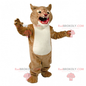Savannah animal mascot - Ferocious Panther - Redbrokoly.com