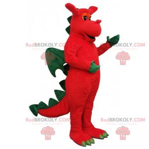 Fantastisches Tiermaskottchen - Drache - Redbrokoly.com