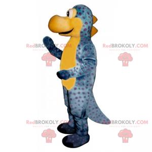 Prähistorisches Tiermaskottchen - Blauer Dinosaurier -