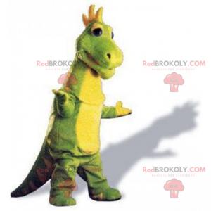 Prehistorický zvířecí maskot - dinosaurus na dvou nohách -