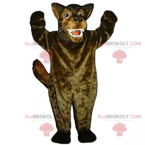 Maskotka dzikiego zwierzęcia - duży wilk - Redbrokoly.com
