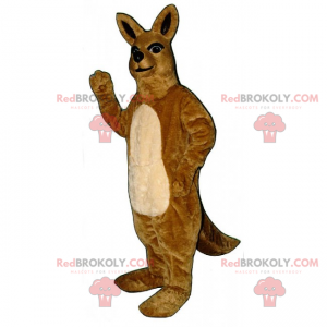 Villdyrmaskott - kenguru - Redbrokoly.com