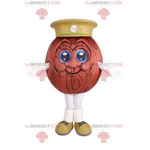 Mascote da bola de basquete com boné - Redbrokoly.com
