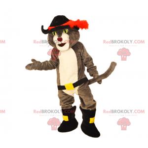 Katzenmaskottchenstiefel mit einem Schwert - Redbrokoly.com