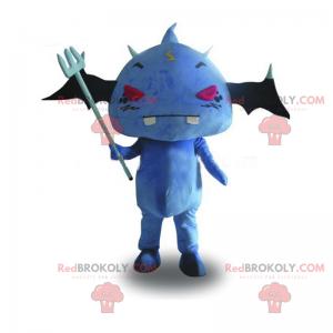 Maskot modrý netopýr a červené oči - Redbrokoly.com