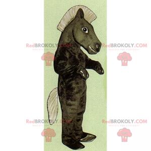 Maskot koně s velkou hřívou - Redbrokoly.com