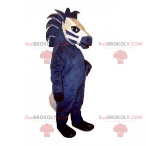 Blue and white horse mascot - Redbrokoly.com