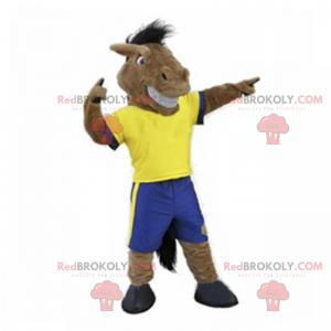 Maskot koně ve sportovním oblečení - Redbrokoly.com