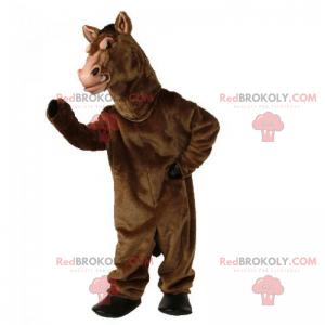 Lesklý hnědý kůň maskot - Redbrokoly.com