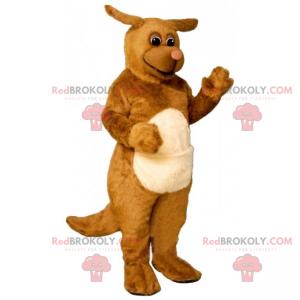 Hnědý pes maskot s malými ušima - Redbrokoly.com